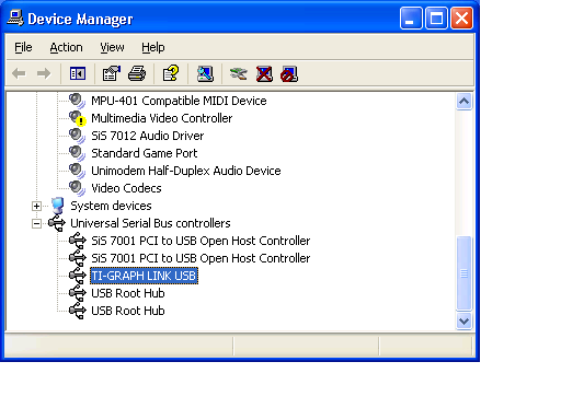 universal serial bus usb controllers drivers for windows xp